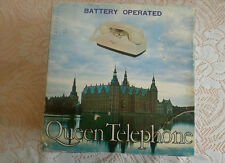 VINTAGE QUEEN TELEPHONE - BATTERY OPERATED - RED IN COLOR - WITH ORIGINAL BOX