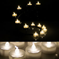 24 x Warm White Flameless Flickering Battery LED Timer Tea Light Candle  Party