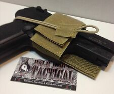 Universal Tactical Pistol Holster w/ Velcro Hook & Loop MOLLE Vest Chest Rig Tan