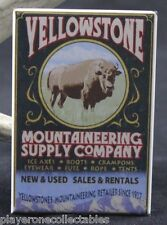 "Yellowstone Mountaineering Supply Co. Vintage Poster 2"" X 3"" Fridge Magnet."