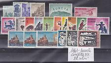 SAN MARINO 1961 ANNATA COMPLETA 22 VALORI NUOVI  LUSSO