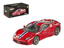 FERRARI 458 ITALIA SPECIALE ELITE EDITION 1/43 DIECAST MODEL CAR HOTWHEELS BLY45