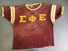 Vtg Fraternity Jersey Shirt 70s 1976 Durene Knute Greek Frat Russell USA Unique!