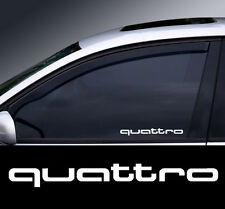 Chrome Audi Quattro Logo Window Decal Sticker Graphic *Colour Choice*
