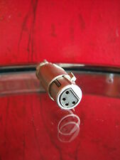 Vintage RARE 1950's 4 pin female Cannon cable microphone connector old used