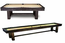 Reno Package 8' Pool Table & 12' Shuffleboard w/ Rustic Finish and FREE SHIPPING
