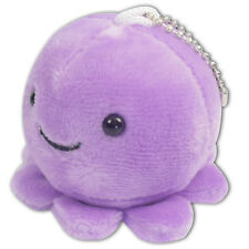 "2"" Purple Baby Octopus Round Soft Plush Toy Stuffed Animal Keychain Cute New"