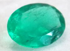 Natural 100%  Colombian Muzu Oval  Emerald Nice Green 0.65 Carats Aprx 7mmx5.5mm