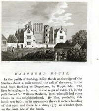 1787 Original Print; Eastbury House, Barking, London