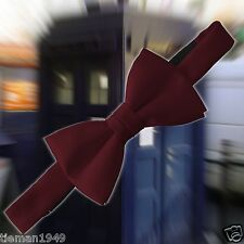Doctor Who Style Satin Burgundy Bow Tie, Matt Smith
