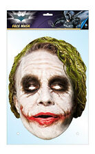 The Joker Official Batman 2D Card Party Face Mask Fancy Dress Up Heath Ledger