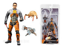 "7"" DR GORDON FREEMAN action figure HALF-LIFE 2 gravity gun NECA valve HEAD CRAB"
