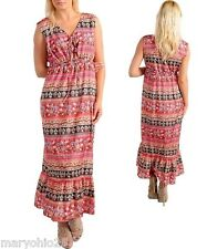 L3X Womens Peach Pink Multi color Maxi Summer Long DRESS PLUS SIZE XL 2XL 3XL