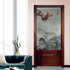 Doorway Scenery Curtain Japanese Noren Fabric Chinase Traditional Painting D3077