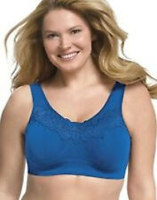 Just My Size Pure Comfort Wirefree Bra w Lace Trim fits 48C 48D 48DD or 46DDD