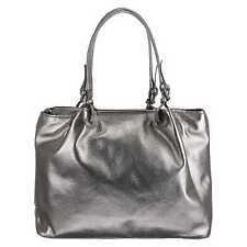L. Credi Shopper Damentasche, Handtasche, Tasche, 45 x 31 x 13 cm, Grau