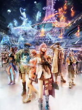"070 Final Fantasy xiii 13 - FF13 Lightning Face Girl play TV Game 14""x19"" Poster"