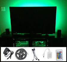 4x50cm 5050 RGB LED MOOD Lighting idee TV Retroilluminazione Multi Colore cambiare NEW