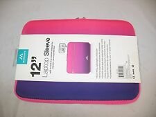 "New Merkury Innovations 12"" Neoprene Sleeve Laptop Case Holder Purple Pink"