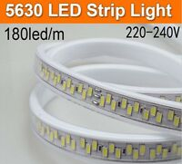 180leds/m 220V led strip 5730 5630 SMD warm white Flexible tape light waterproof