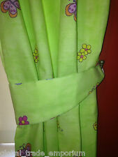 "NEW CHILDRENS Bedroom Curtains 66""x54"" GIRLS Green Fairytale Princess Butterfly"