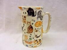 Mignon chats et chatons 2 pint pitcher pichet par heron cross pottery