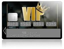 Autocollant carte bancaire VIP,sticker CB,credit card,skin