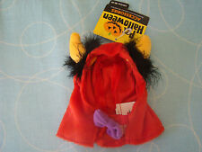 Pet Halloween Cat Hat Accessory Costome 1 Size Red, Yellow & Black NWT Monster