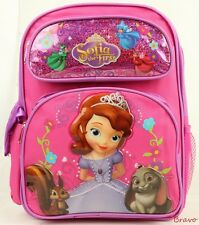 """Disney Sofia the First 14"""" Full size Children's School Backpack and Girl's Bag"""