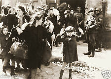 Warsaw Ghetto Uprising Surrender Women & Children World War 2 Reprint Photo 7x5""