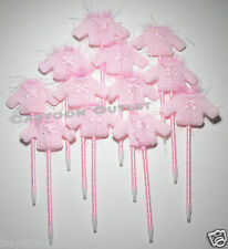 12 PC BABY SHOWER FAVORS PENS SWEATERS RECUERDOS PARTY FAVORS PINK GIRLS CUTE