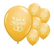 """20 appena sposati oro 11 """"Qualità Elio Pearlised NOZZE numeri di riferimento (Pa)"""