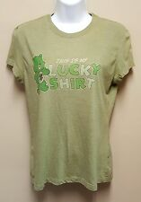 Care Bears Juniors XL 15 17 Green Tee My Lucky Shirt St Patricks Day Irish Retro