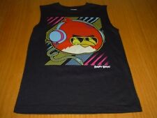 NEW ANGRY BIRDS TANK TOP MUSCLE SHIRT BOYS 12 BLACK COTTON POLY BLEND FIFTH SUN