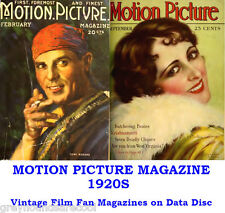 Motion Picture 1920s Vintage Collection Film Movie Screen Magazines on Data Disc