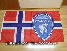 Fahnen Flagge Norwegen Spitzbergen Digitaldruck 90 x 150 cm