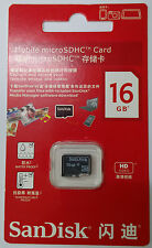 SanDisk 16G 16GB Micro micro SD SDHC  microSDHC TF T Flash Memory Card Class 4