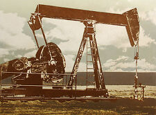 """Ted Thomas """"Oil Field #3"""" Hand Signed & Numbered Etching oil drilling machines"""