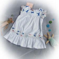 BLUMARINE BABY Kleid weiß Schleifen Volants Luxus Italx Gr. 12m 74 80  NEU