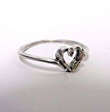 Sterling Silver 925 Black Hills 12k Yellow & Rose Gold Leaves Heart Promise Ring