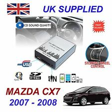 MAZDA CX7 07-08 MP3 SD USB CD AUX Input Audio Adapter Digital CD Changer Module