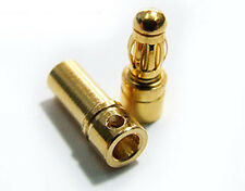 POLYMAX 80A 3.5mm GOLD BULLET BANANA CONNECTORS 10 PAIRS / 20 PIECES
