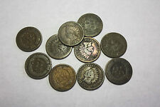 1886 Indian Head Cent. Average Grade of Coin You Will Receive is Photographed