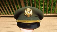 Vietnam US Army Military Officer Service Dress Greens Hat Cap Bullion 6 1/2