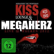 CD DVD Megaherz Kiss Lounge und Live Wacken 2012 4CDs und DVD Set
