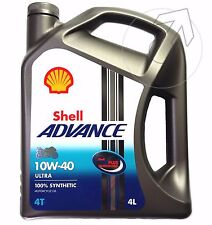 4L MOTORÖL SHELL ADVANCE 4T ULTRA 10W40 VOLLSYNTHETIK API SN JASO MA2 - 2016