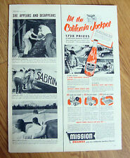 1952 Mission Orange Soda Ad  Hit the California Jackpot
