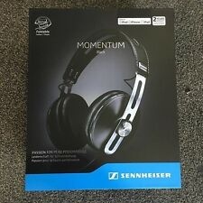 New Sennheiser Momentum M2 AEi Headphones Foldable Black Latest Version 2016!