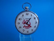 Raketa CCCP red star pocket watch vintage  Montre Reloj uhr manual winding URSS