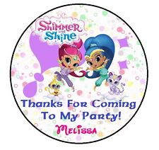 24 SHIMMER and  SHINE BIRTHDAY THANK YOU FOR COMING PARTY STICKERS FAVORS